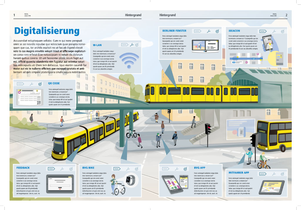 illustrative Infografik BVG Leitstelle