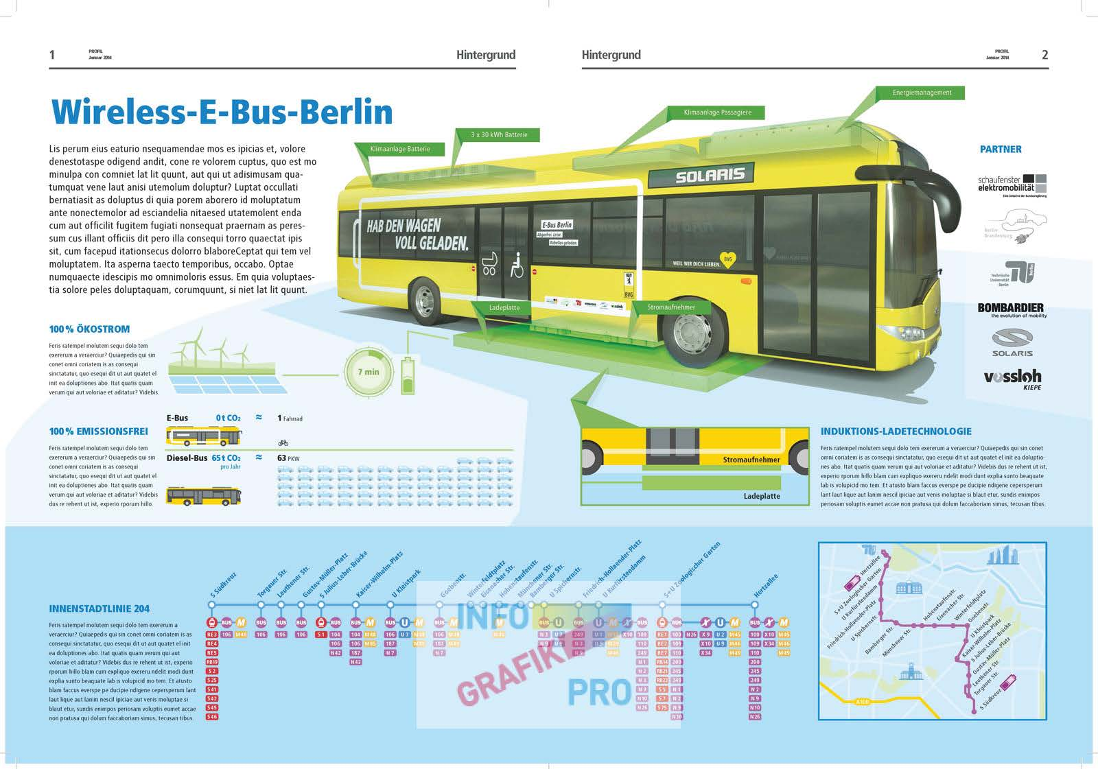 illustrative Infographic electro bus